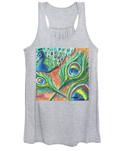 Peacock Feathers Women's Tank Top