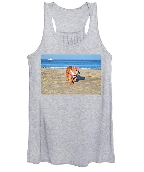 Peanut On The Beach Women's Tank Top