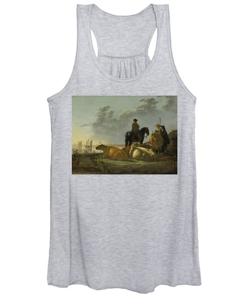 Peasants With Four Cows By The River Merwede Women's Tank Top