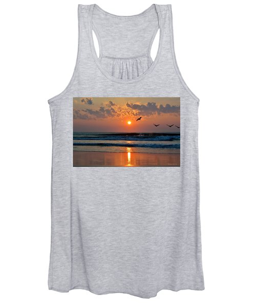 Pelicans On The Move Women's Tank Top
