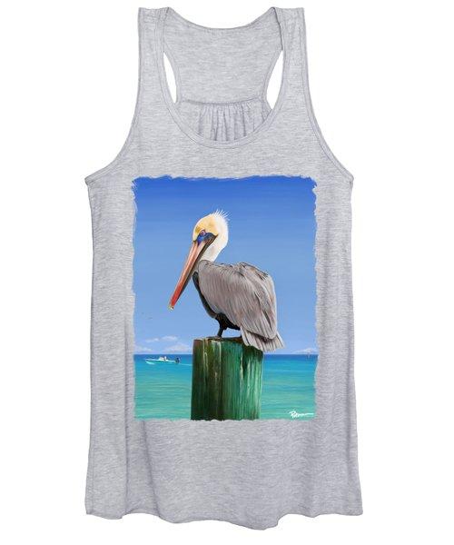 Pelicans Post Women's Tank Top