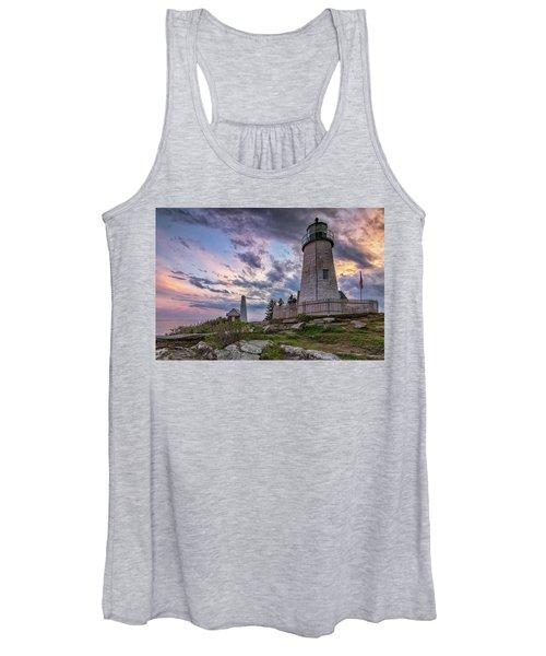 Pemaquid Point Lighthouse At Sundown Women's Tank Top