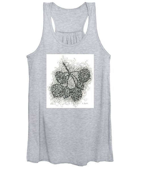 Pen And Ink Drawing Of Aspen Leaves Women's Tank Top