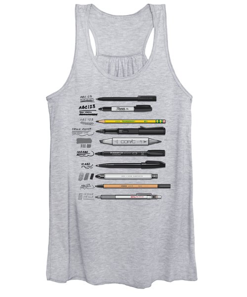 Pen Collection For Sketching And Drawing Women's Tank Top