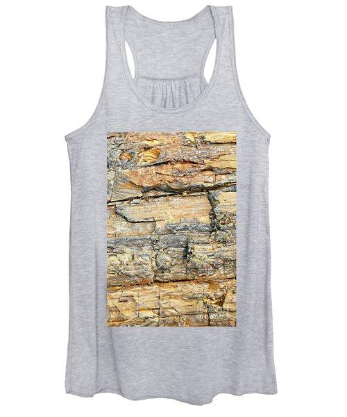Petrified Wood Nature Abstract Women's Tank Top