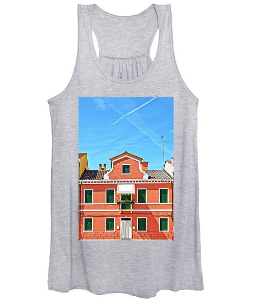 Picturesque House In Burano Women's Tank Top