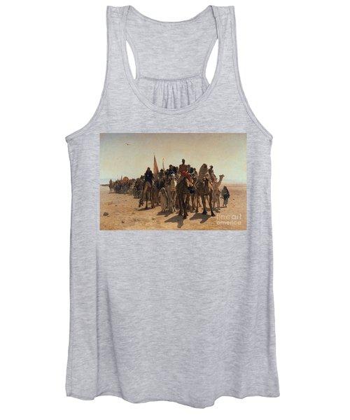Pilgrims Going To Mecca Women's Tank Top