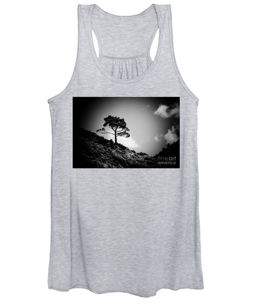 Pine At Sky Background Artmif.lv Women's Tank Top