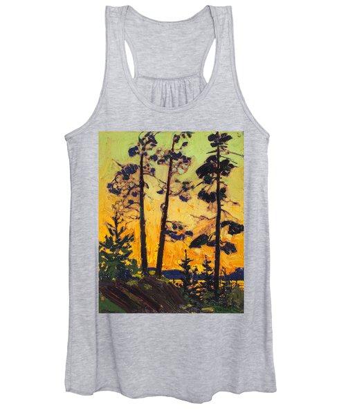 Pine Trees At Sunset Women's Tank Top