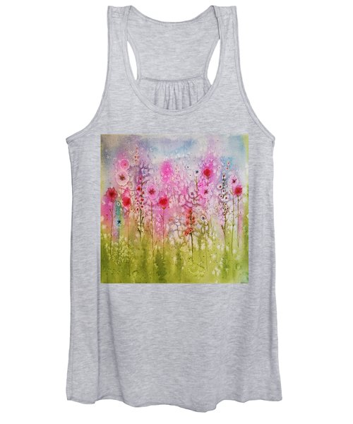 Pink Abstract Women's Tank Top