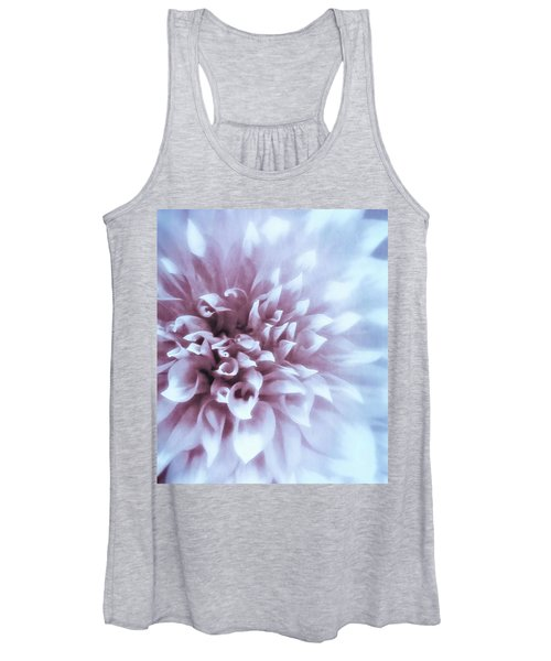 Pink And Blue Dahlia Women's Tank Top