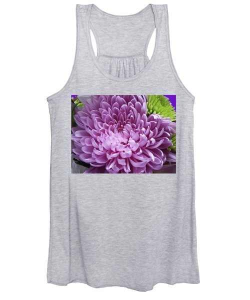 Pink And Green Defined Women's Tank Top