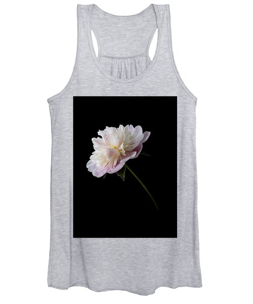 Pink And White Peony Women's Tank Top