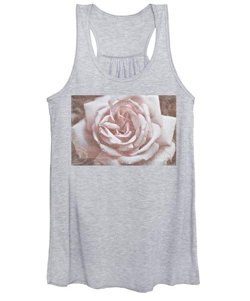 Pink Garden Rose Women's Tank Top