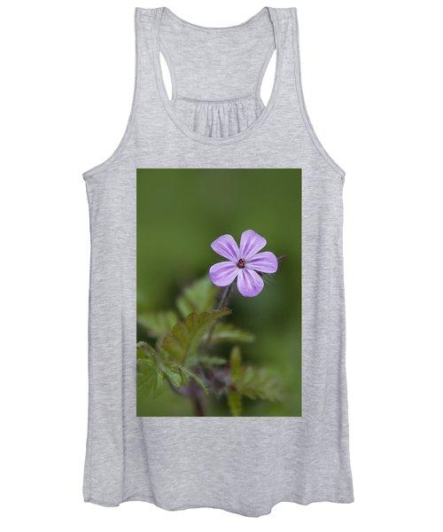 Pink Phlox Wildflower Women's Tank Top