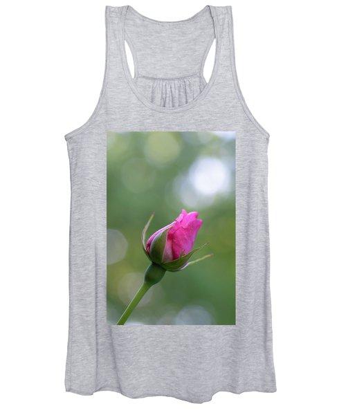 Pink Rose Bud Women's Tank Top
