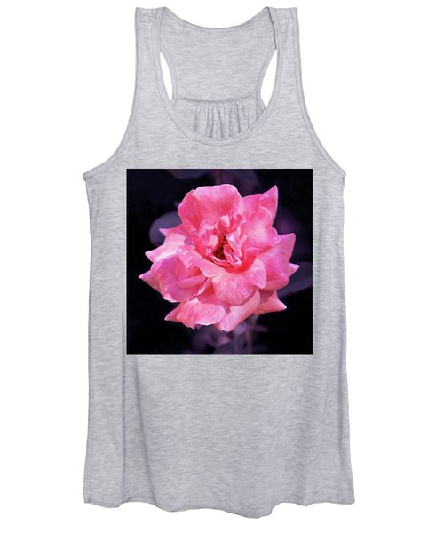 Pink Rose With Violet Women's Tank Top