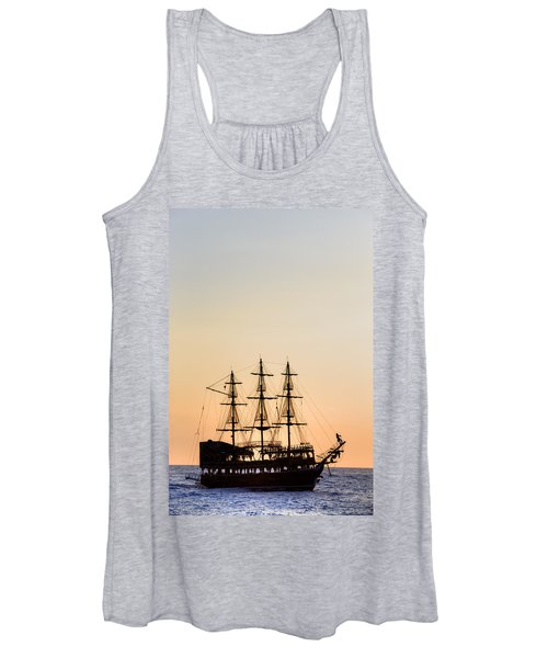 Pirate Boat Women's Tank Top