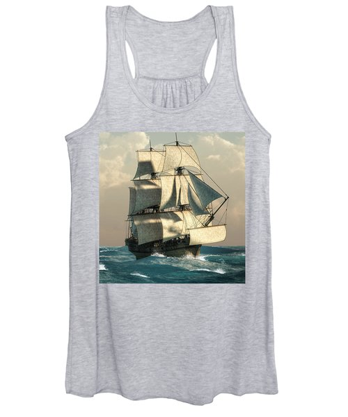 Pirates On The High Seas Women's Tank Top