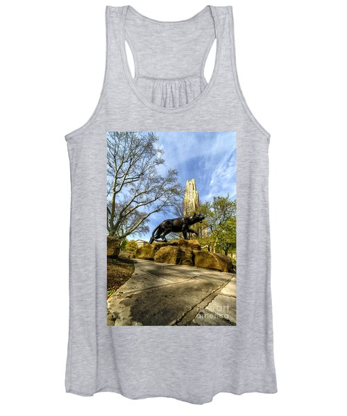 Pitt Panther Cathedral Of Learning Women's Tank Top