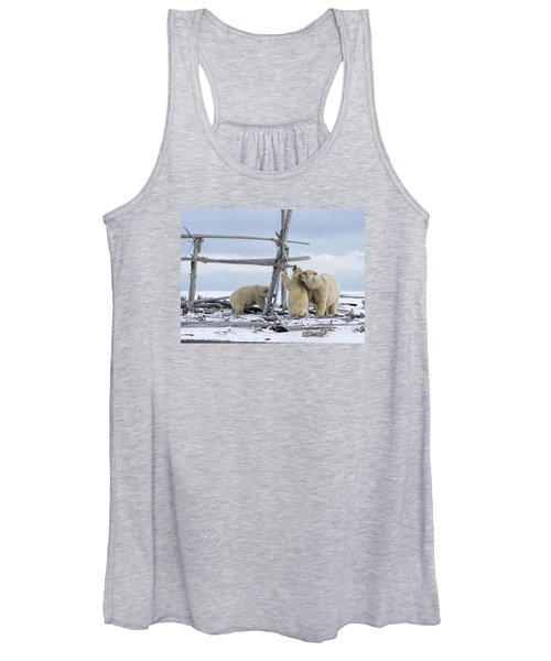 Playtime In The Arctic Women's Tank Top