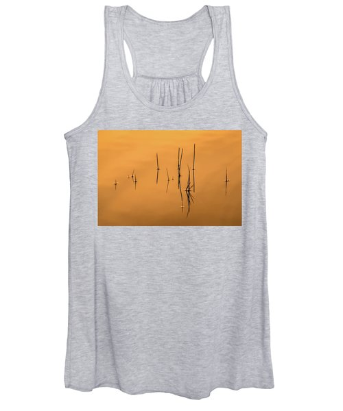 Pond Reeds In Reflected Sunrise Women's Tank Top