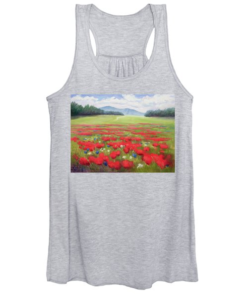 Poppies And Thunderclouds Women's Tank Top