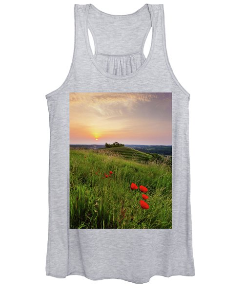 Poppies Burns Women's Tank Top