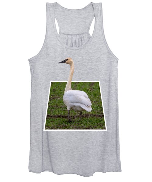 Portrait Of A Swan Out Of Frame Women's Tank Top