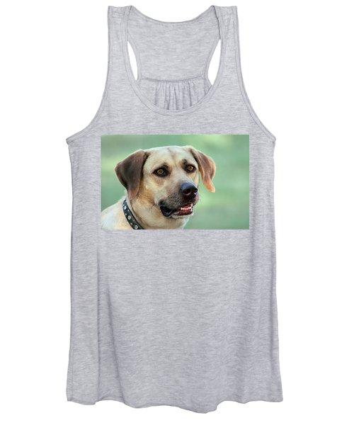 Portrait Of A Yellow Labrador Retriever Women's Tank Top