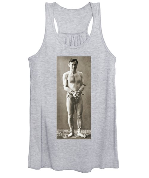 Portrait Of Harry Houdini In Chains, Circa 1900 Women's Tank Top