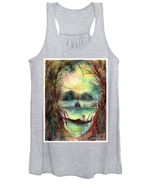 Portrait With A Boat Women's Tank Top