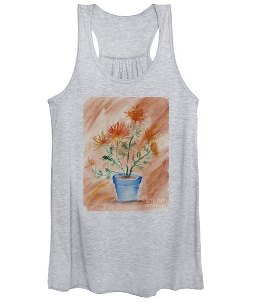 Potted Plant - A Watercolor Women's Tank Top