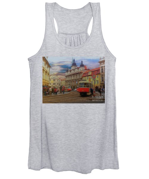 Prague, Old Town, Street Scene Women's Tank Top
