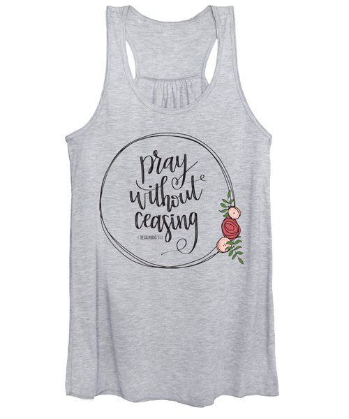 Pray Without Ceasing Wreath Women's Tank Top