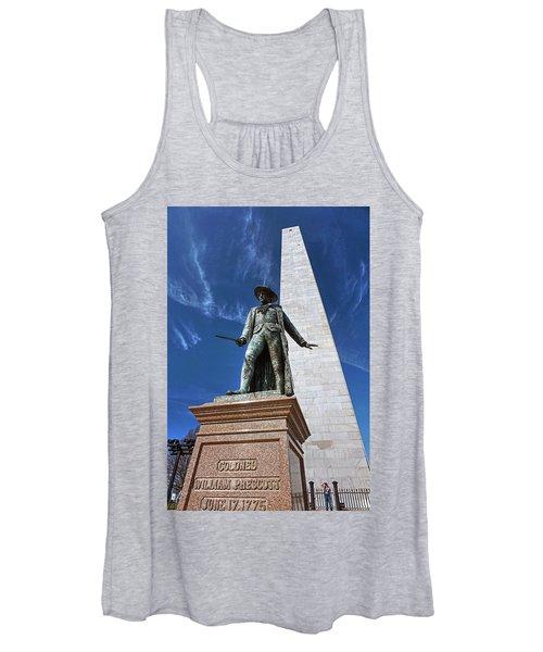 Prescott Statue On Bunker Hill Women's Tank Top