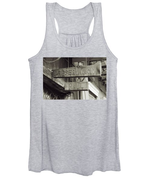Preservation Hall, French Quarter, New Orleans, Louisiana Women's Tank Top