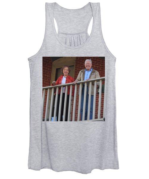 President And Mrs Carter On Plains Inn Balcony Women's Tank Top