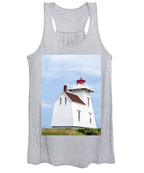 Prince Edward Island Lighthouse Poster Women's Tank Top