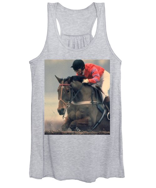 Princess Anne Riding Cnoc Na Cuille At Kempten Park Women's Tank Top