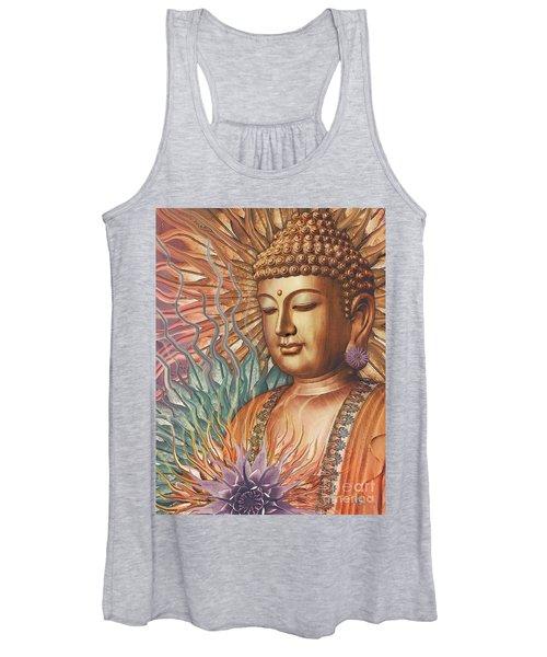 Proliferation Of Peace - Buddha Art By Christopher Beikmann Women's Tank Top