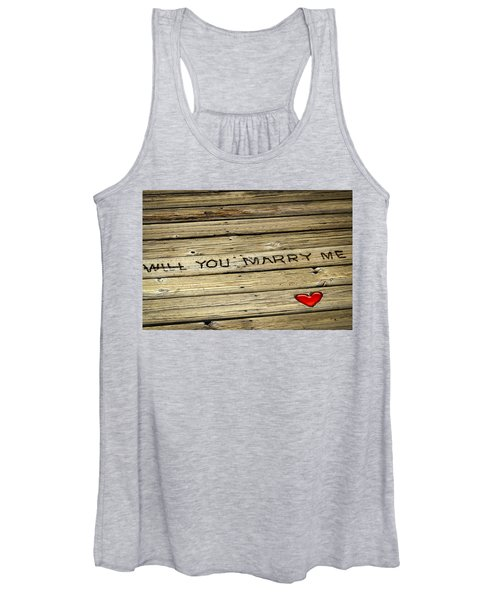 Propose To Me Women's Tank Top