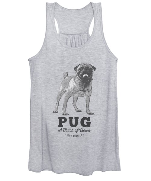 Pug Dog Touch Of Clown T-shirt Women's Tank Top