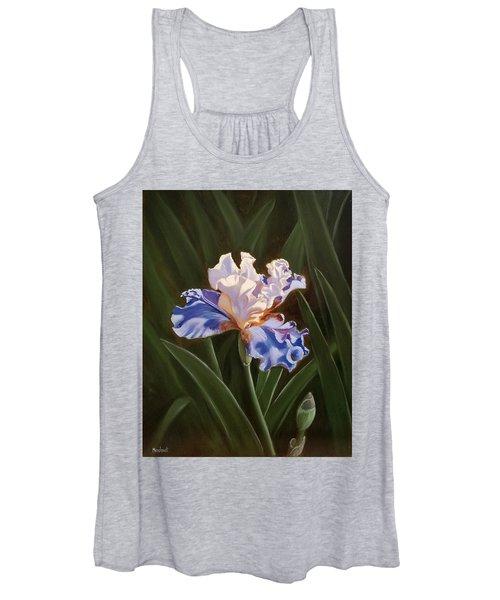 Purple And White Iris Women's Tank Top