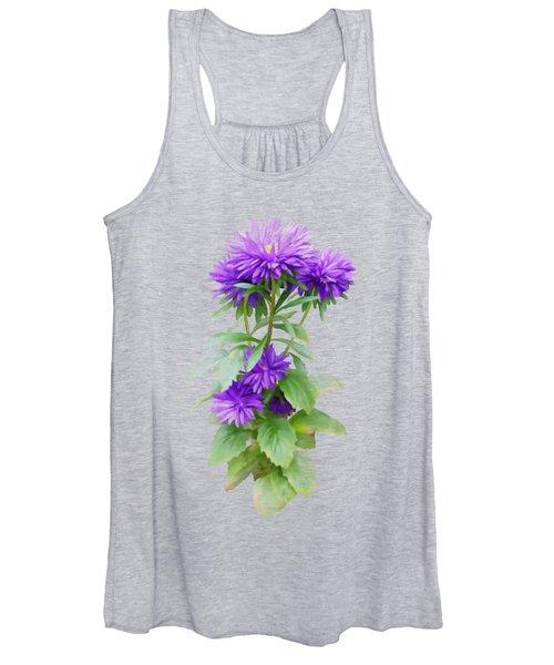 Purple Aster Women's Tank Top