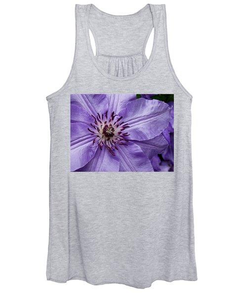 Purple Clematis Blossom Women's Tank Top