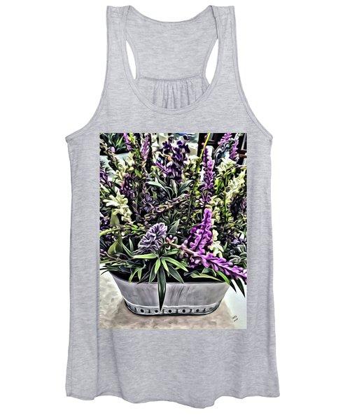Purple Flowers In Bloom Women's Tank Top