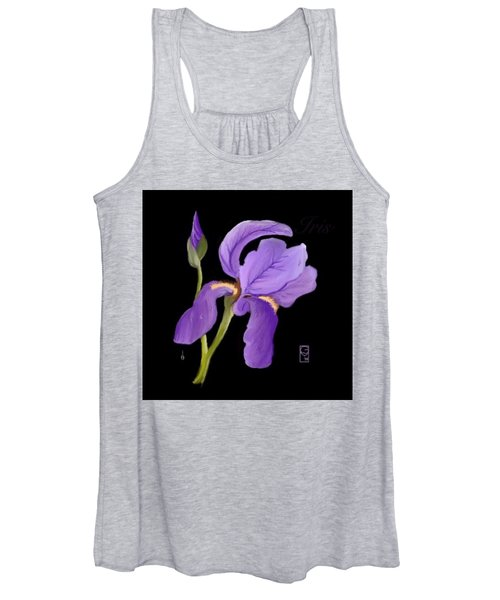 Purple Iris Women's Tank Top
