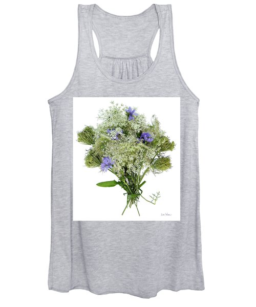 Queen Anne's Lace With Purple Flowers Women's Tank Top