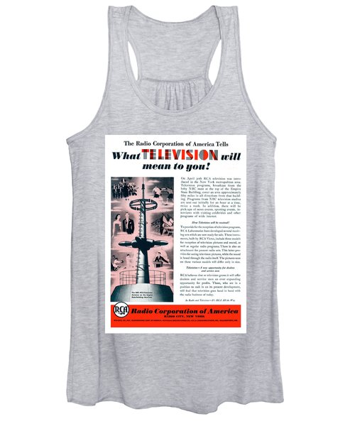 R C A - What Television Will Mean To You 1939 Women's Tank Top